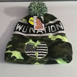 Other - Wu nation wu tang clan neon camo beanie hat NWT